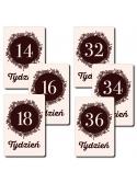 Moje Pierwsze 9 Miesięcy Czerń i Biel 18 kart